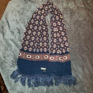 DKNY 100% silk scarf unisex